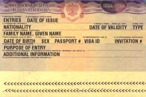 Travel to Russia, visa application
