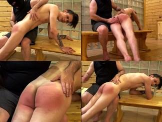 hand spanking boy video Gera in the sauna