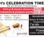 Refinement Clinic 30 years in Rustenburg poster