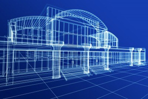 9366523-abstract-3d-sketch-of-office-building-on-blue