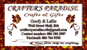 Crafters Paradise business card