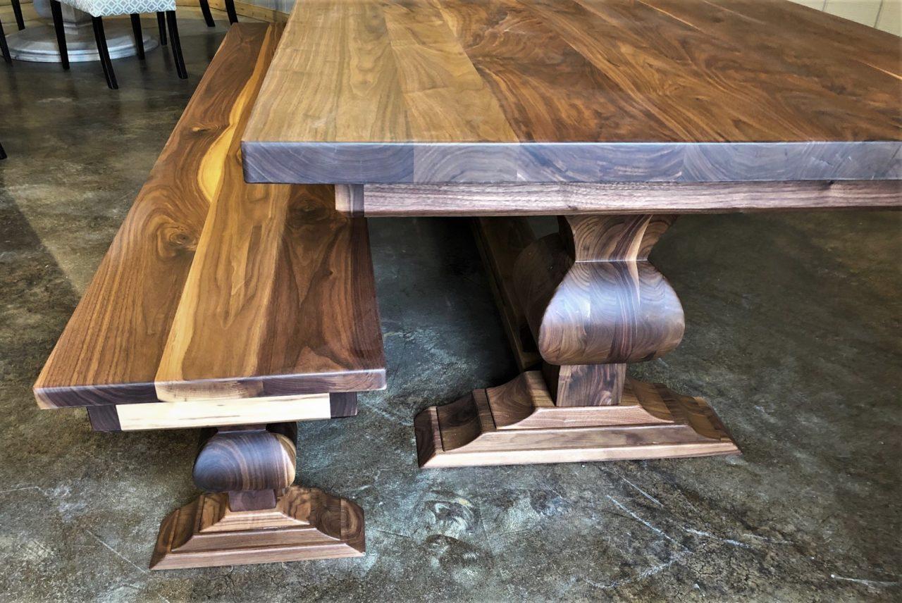 Walnut Edison Pedestal Table
