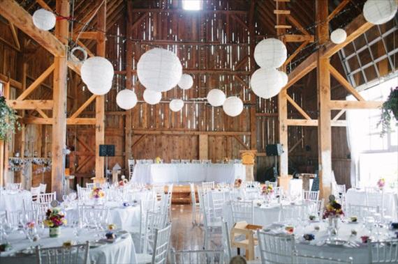 Reception Ideas Barn Vineyard Wedding