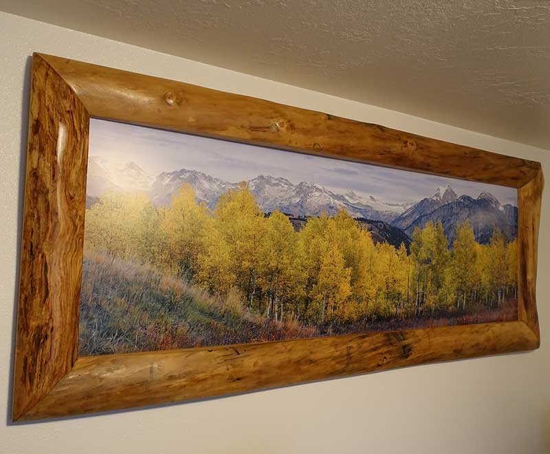 Aspen Log Picture Frame Rustic Log Furniture Of Utah