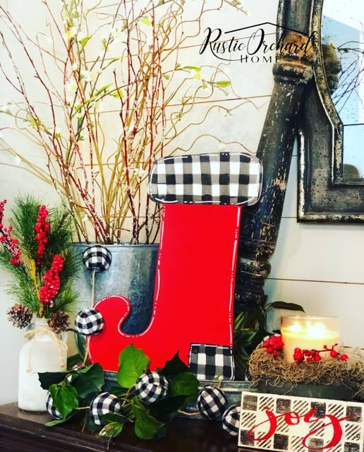 Hand Painted Christmas Stocking Craft