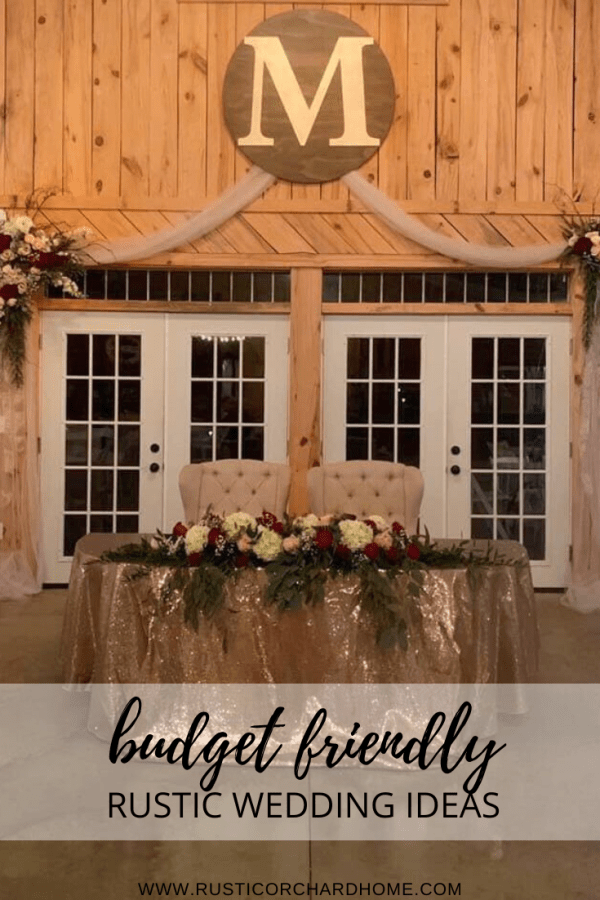 Some of the BEST budget friendly rustic wedding and glam wedding decor ideas all in one spot!! #rusticorchardhome #weddingdecor #rusticwedding #weddingdecorations #weddingdecoronabudget