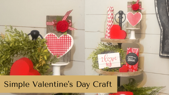 This simple Valentine's Day Craft is the perfect winter home decor accent for any home!! #rusticorchardhome #valentinesdaycraft #diyhomedecor #farmhousehomedecor #winterfarmhousedecorideas