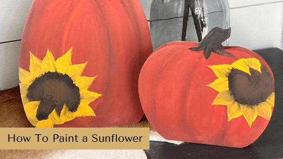 Learn how to paint a sunflower! This is a must-know skill for any who loves DIY decor and crafts.
