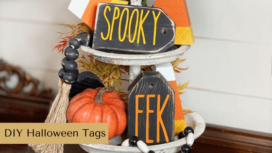 These simple Halloween tags come together super quick thanks to Chalk Couture!