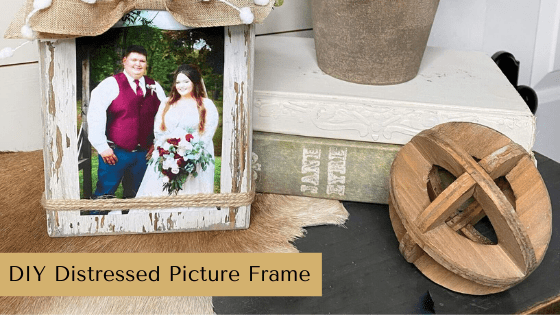 Make your own DIY Distressed Picture Frame. This is the perfect creative gift idea for Christmas!