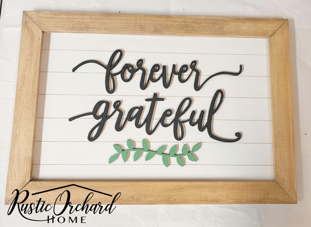 This DIY Thanksgiving Sign kit is super easy to put together! It'll be the highlight of your Thanksgiving farmhouse decor!