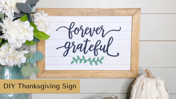 DIY Thanksgiving Sign