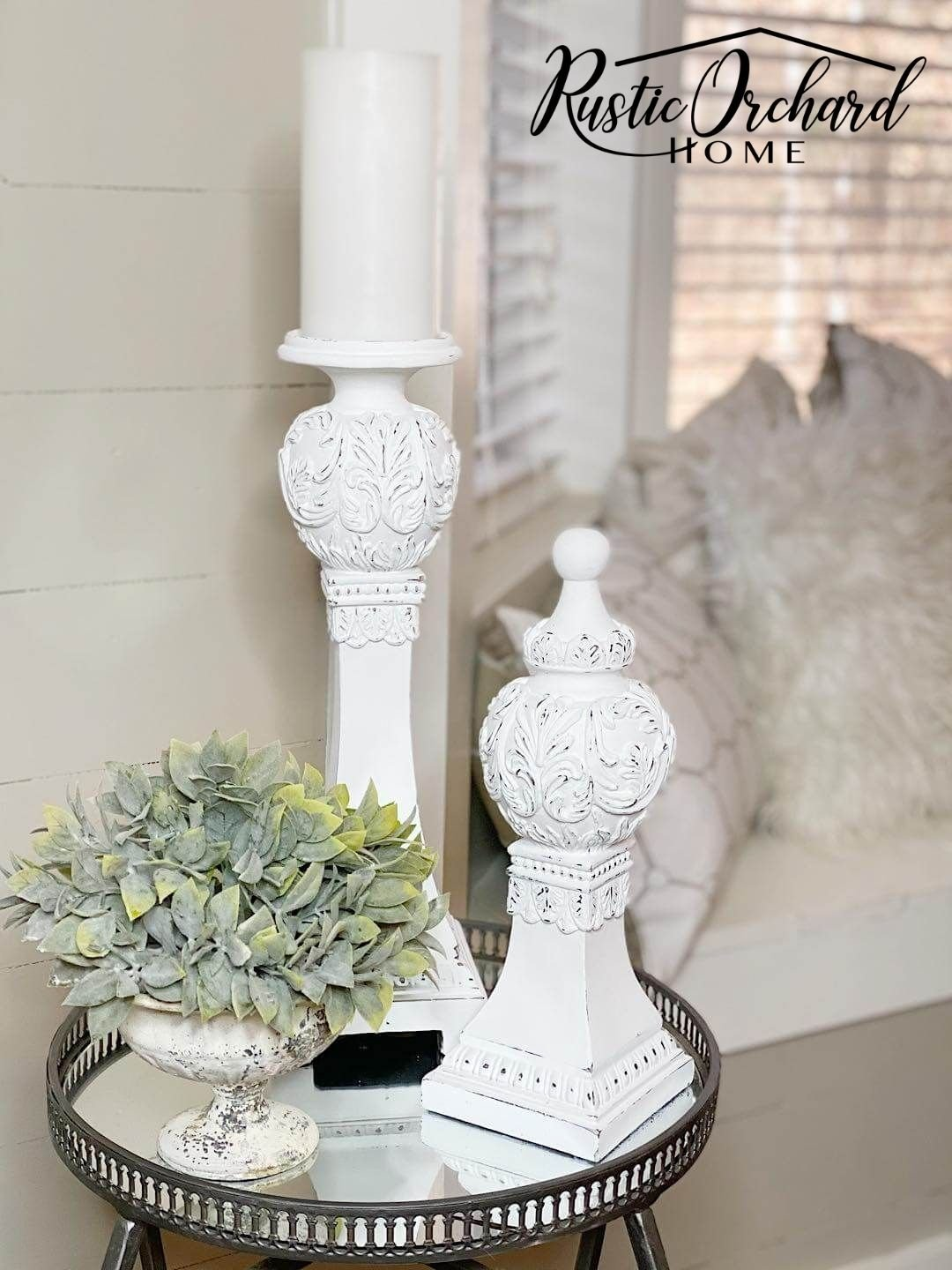 This Upcycled Wooden Candlesticks tutorial is super easy and is totally budget friendly!
