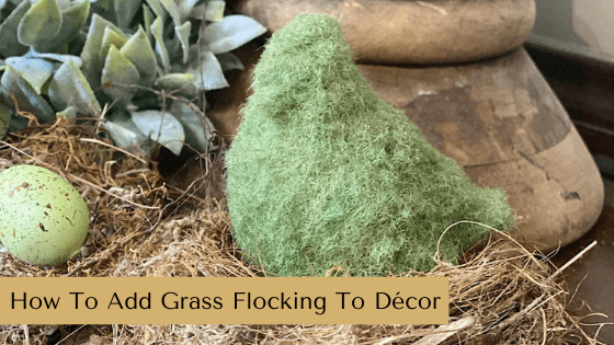 How To Add Grass Flocking To Décor