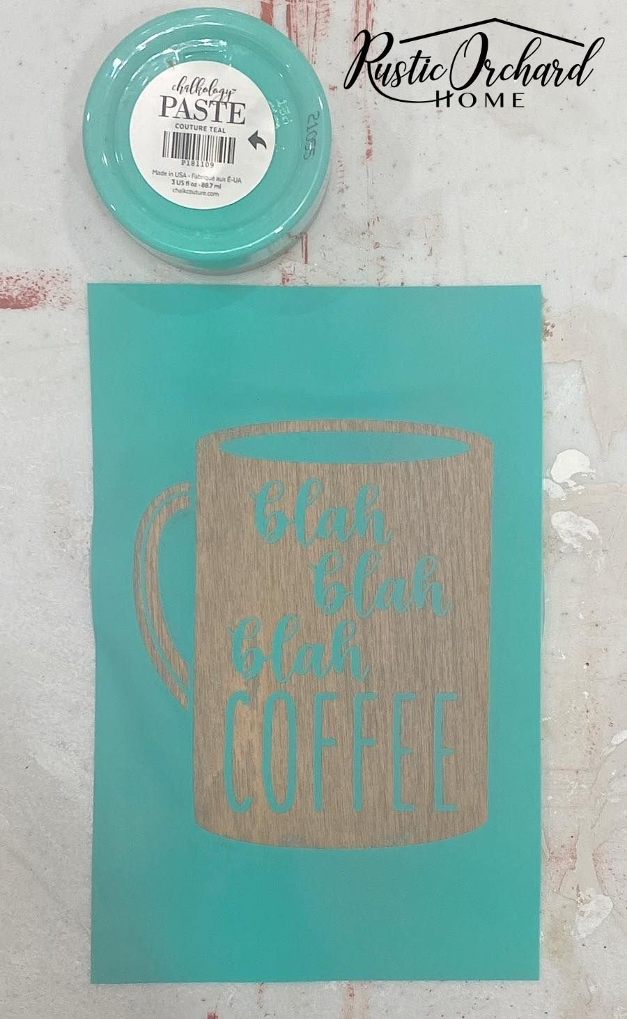 This Easy DIY Coffee Sign is perfect for your farmhouse kitchen or coffee bar!