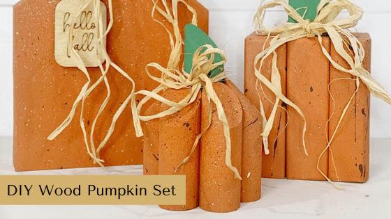 DIY Wood Pumpkin Set