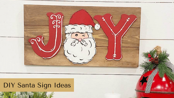 Learn to make two different Santa Signs just in time for Christmas decorating season!