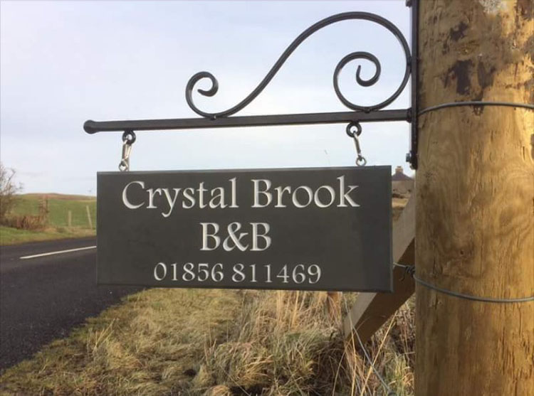 Stone House Signs in a Range of Styles and Quality Materials hanging slate plaque for bed and breakfest thumbnail