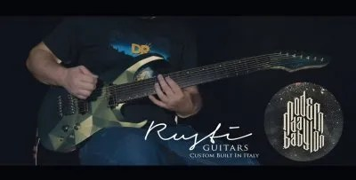 Rusti guitars custom abstract 2 post