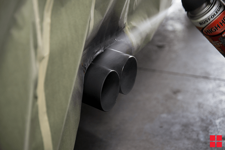 how to paint your exhaust pipe with