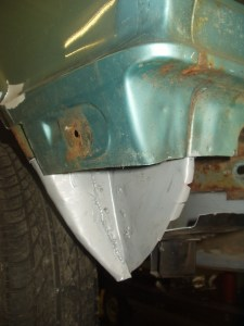 LH inner rear corner fabricated