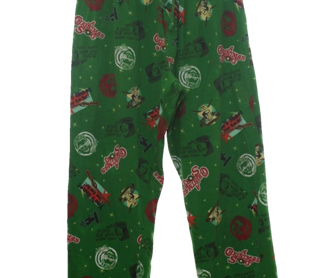 Nineties Christmas Pants To Wear With Your Ugly Christmas Sweater S A Christmas Story Movie Unisex Green Background With Red Beige White Blacklight