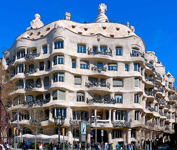 Image result for Casa Mila, Barcelona, 1912