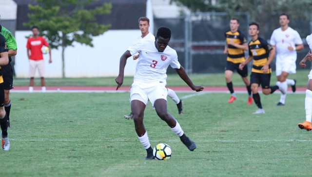 Pape Oumar Gueye played the cavaliers this game | Men's Soccer