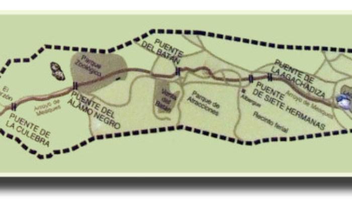 Puentes del Meaques. Madrid en bici.
