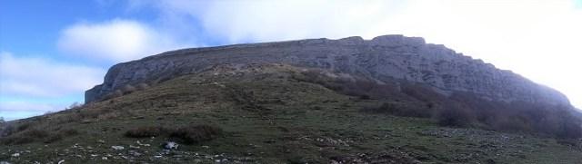 Panorámica de la Sierra de San Donato durante la subida