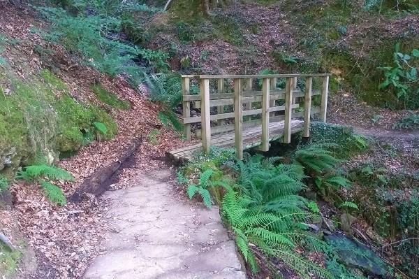 Puente de madera en Señorío de Bertiz