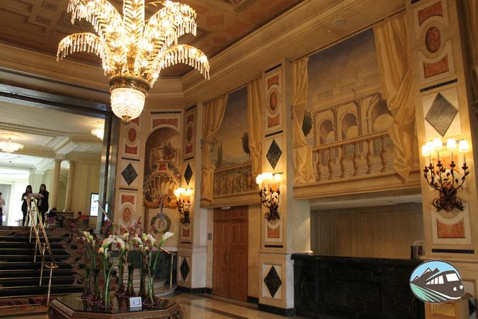 Recepción del hotel Palace