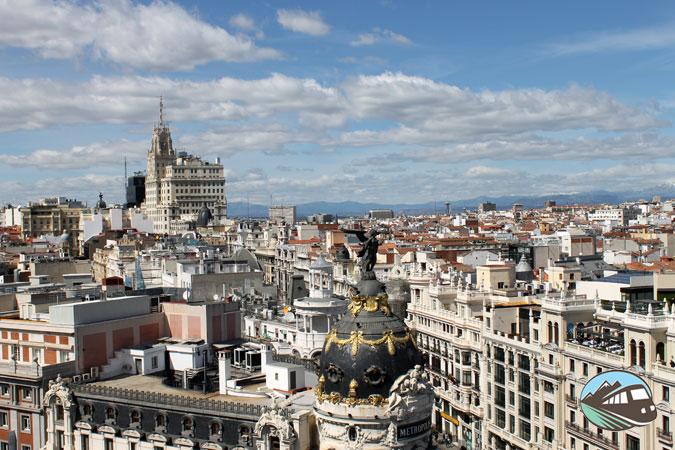 Panorámica desde Circulo de Bellas Artes – Madrid