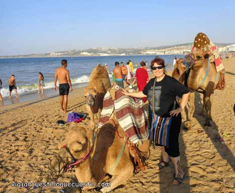 Alejandra en la playa
