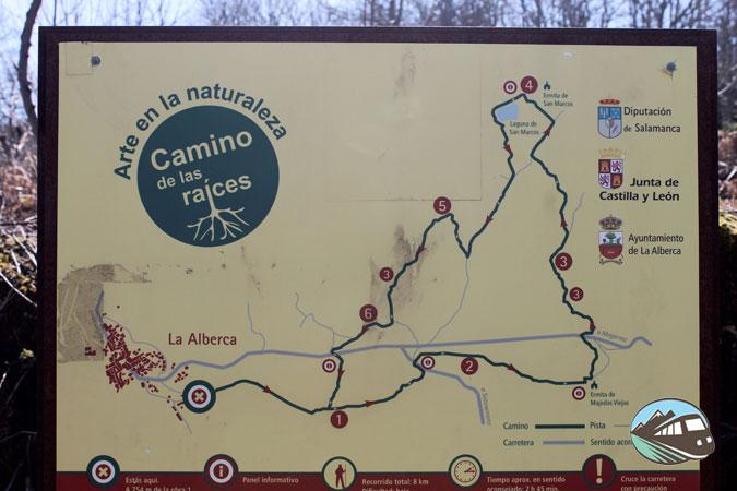 Plano de la ruta del Camino de las Raíces