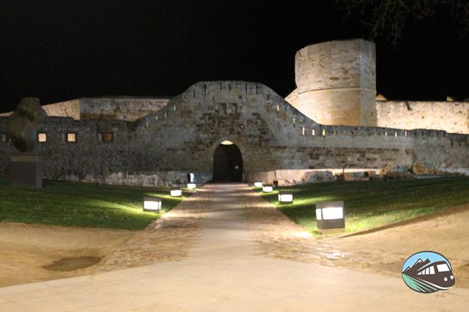 El Castillo de Zamora de noche