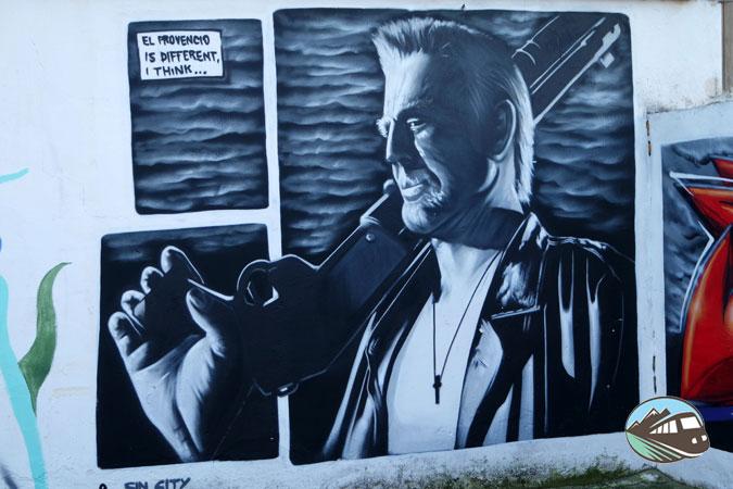 Mural dedicado a Sin City - El Provencio