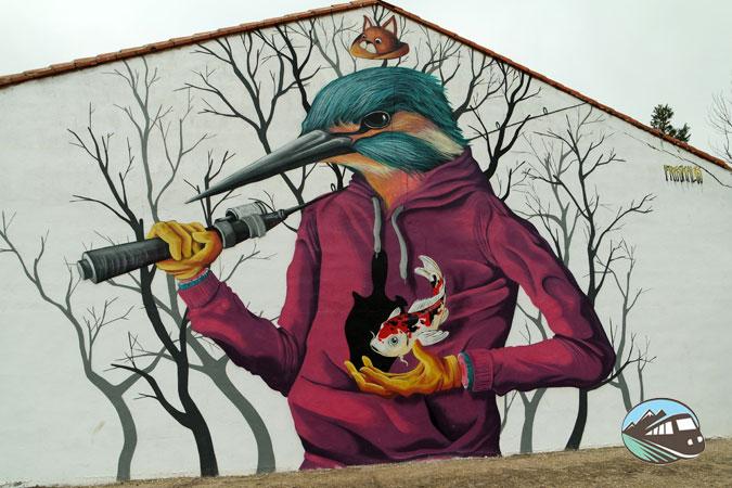 Mural del Martín Pescador - El Provencio