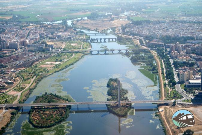 Sobrevolando Badajoz - Alqueva