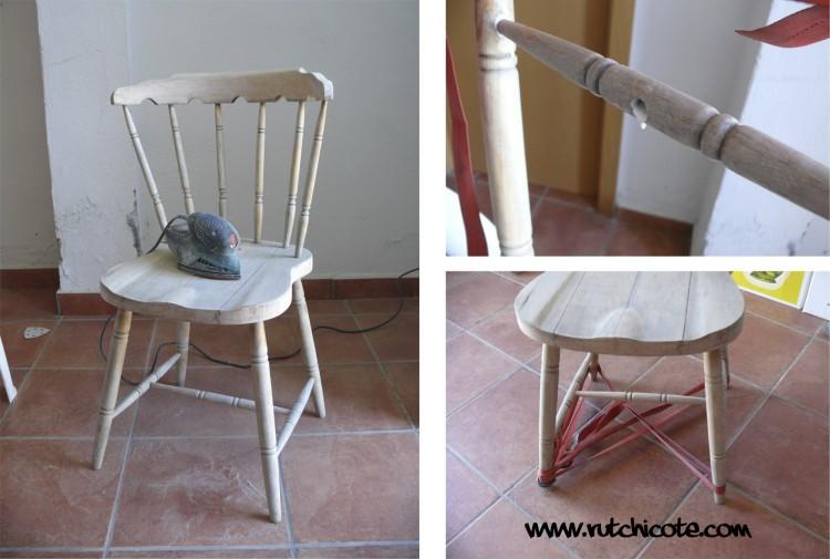Proceso de reciclaje de una silla