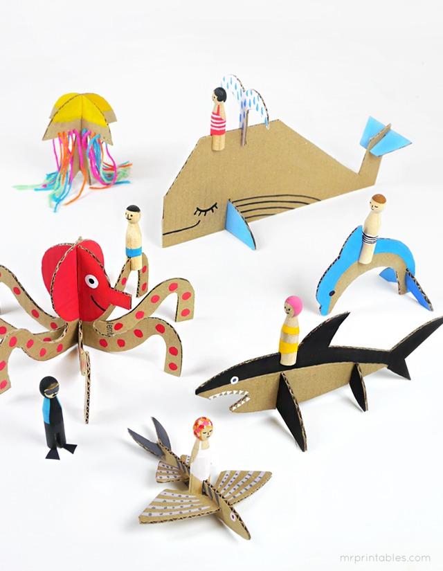 juguetes-de-carton-animales