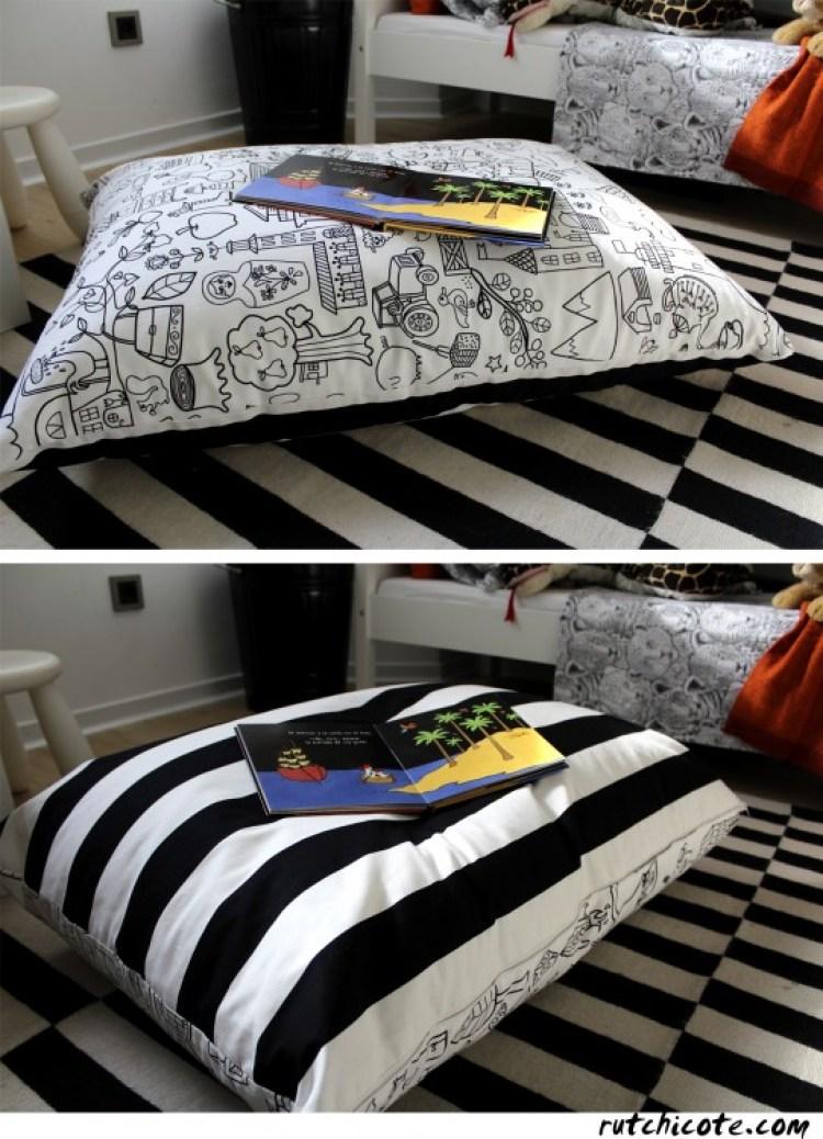 Ideas-para-decorar-una-Habitación-infantil-cojin-de-bolas-de-corcho