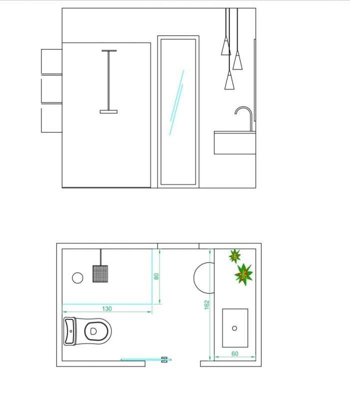 Proyecto de interiorismo. Un baño con zona de tocador