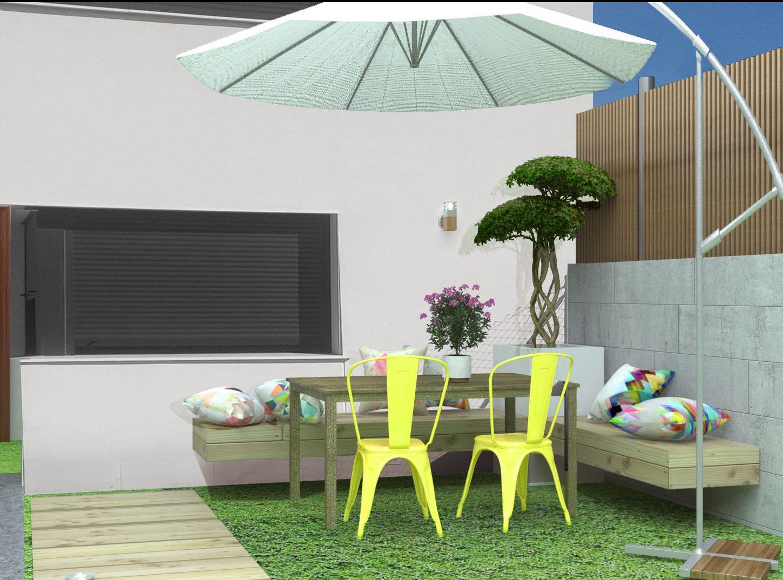 Diseño de terraza exterior