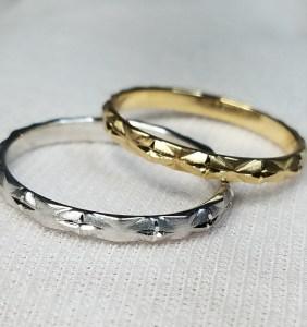 結婚指輪 マリッジリング 手彫り