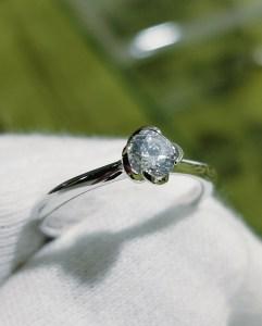 婚約指輪 エンゲージリング(花座タイプⅡ)