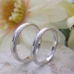 結婚指輪 ミルグレインリング(2ライン)