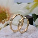 結婚指輪 多面体リング