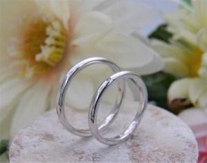 結婚指輪 甲丸リング