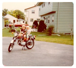 Brent and his sister in the driveway of their childhood home. This driveway was where Brent first heard God speak to him.